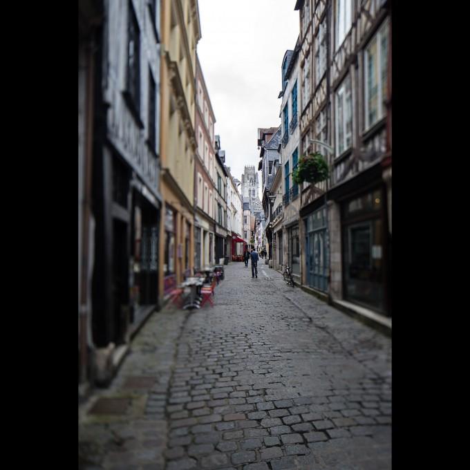 Rouen - Rue Damiette Richtung Saint Ouen