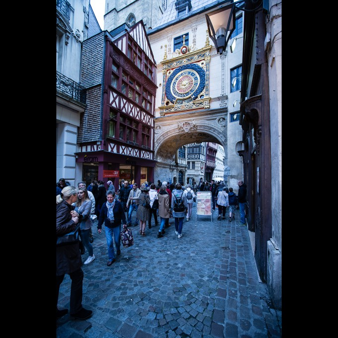 Rouen - Der große Uhrenturm (Le Gros Horloge)
